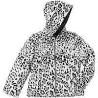 Куртка принтованная с искусственным мехом 4-5 лет