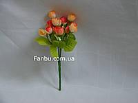 Искусственный  букет английской розы-нов (цвет оранжево желтый)