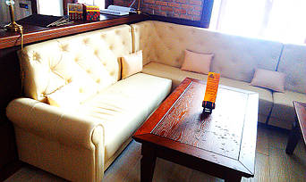 """Кожаные диваны для ресторана """"Whisky corner"""" улица Софиевська, 16/16 6"""