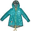 Куртка на девочку 2-х сторонняя Цвет бирюза размер 34, 38