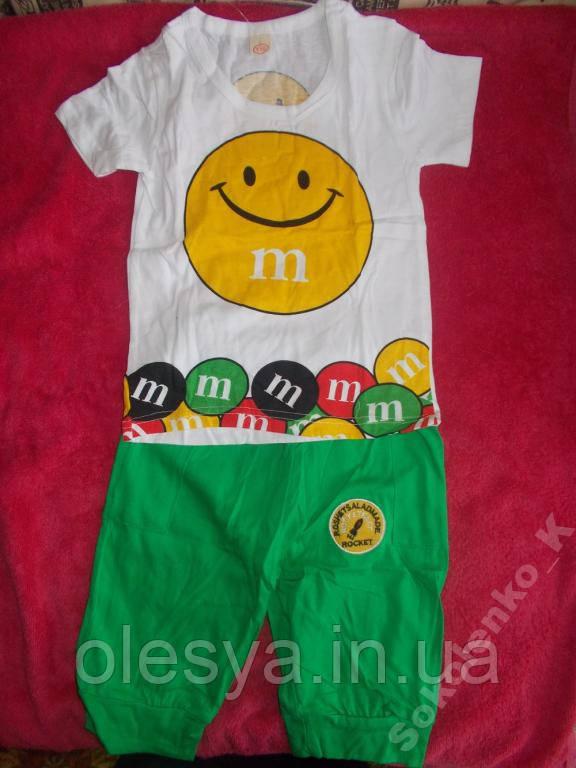 Комплект футболка с шортами Унисекс на рост 110