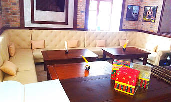 """Кожаные диваны для ресторана """"Whisky corner"""" улица Софиевська, 16/16 7"""