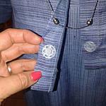 Костюм лен женский  голубой кос 002-3, юбка в пол и жакет лен ., фото 8