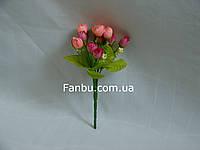 Искусственный  букет английской розы-нов (цвет розово малиновый)