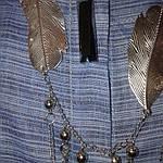 Костюм лен женский  голубой кос 002-3, юбка в пол и жакет лен ., фото 7