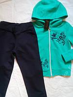Спортивный костюм на девочек, мята, хлопок, размер M, фото 1
