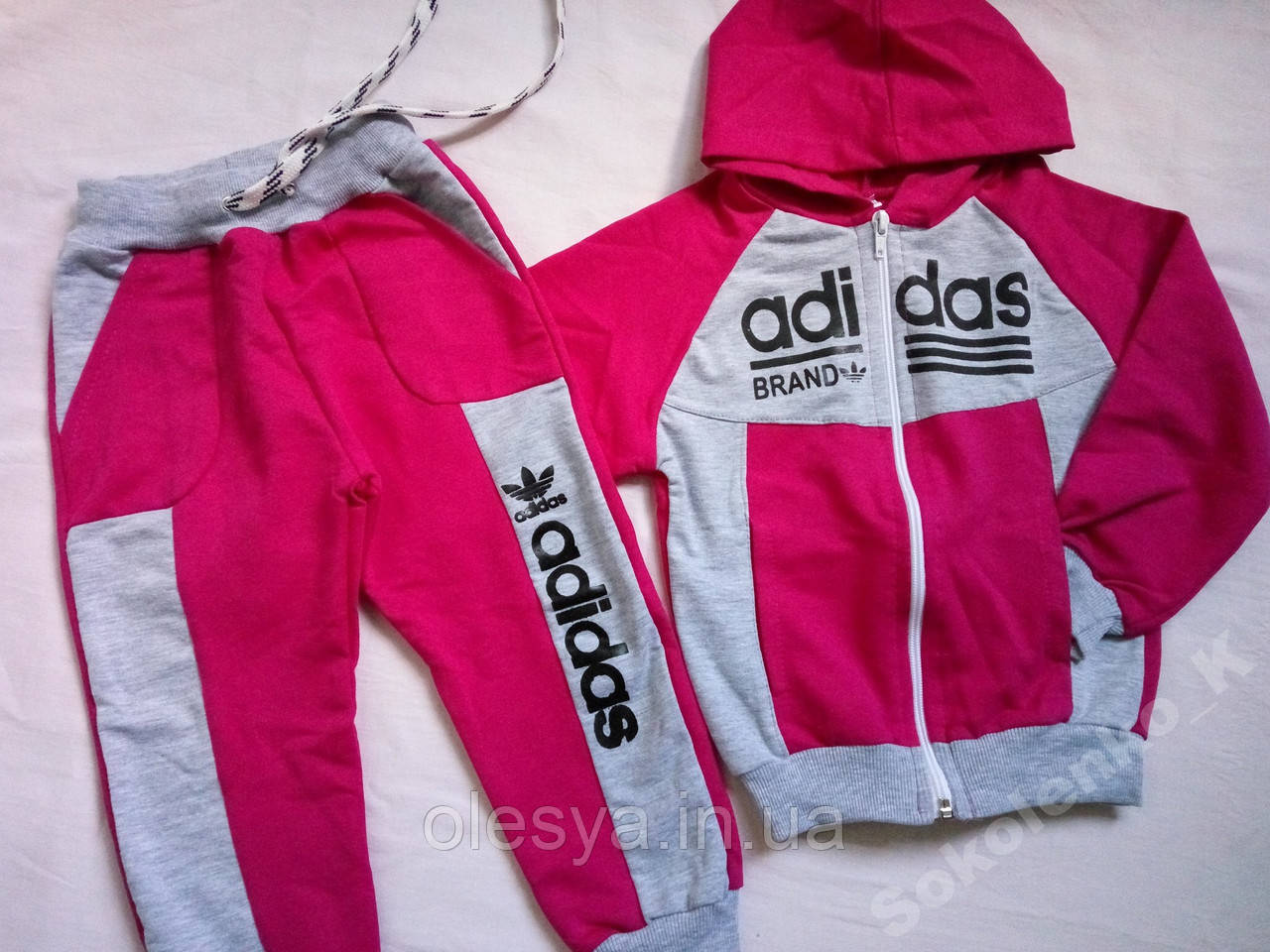 Спортивный костюм Adidas на девочек размеры 98- 104 - Интернет - магазин  Олеся в Каменском 78c1ea01ad8