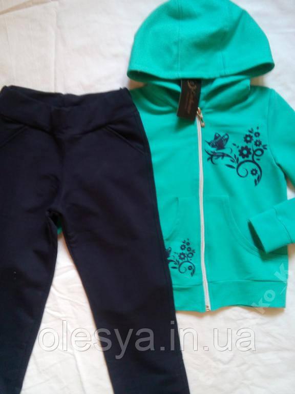 Спортивный костюм на девочек, размер 7 и 8 лет, цвет мятный