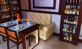 """Кожаные диваны для ресторана """"Whisky corner"""" улица Софиевська, 16/16 9"""