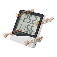 ЖК-цифровой измеритель температуры и влажности термометр будильник время