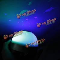 LED лазерный проектор 3 цвета ночник будильник