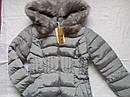 Зимняя женская куртка на холлофайбере размер 46 серая, фото 2