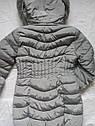 Зимняя женская куртка на холлофайбере размер 46 серая, фото 3