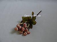 Искусственный  букет английской розы-нов (цвет светло-розовый с бардовым краем)