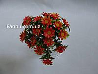 Искусственный куст ромашки с оранжевыми цветами -пластик
