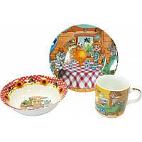 """Детский набор посуды из фарфора """"Простоквашино"""" 3 предмета"""