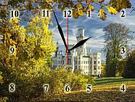 """Настенные часы """"Замок из белого камня""""  кварцевые, фото 1"""