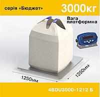 Весы платформенные электронные 4BDU3000-1212-Б Бюджет