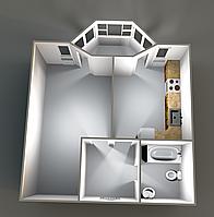 Однокомнатные квартиры 36,60 кв.м. 4,11 этаж__26500