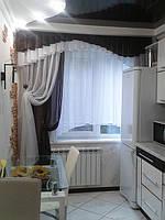 """Шторы для кухни № 36 """"Модерн"""" шифон"""