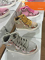 Ботинки демисезонные детские для девочек оптом Размеры 25-30