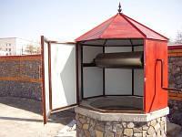 Домик на колодец восьмигранный | Строительство домика для колодца