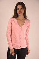 Молодежная женская кофточка на пуговичках персикового цвета