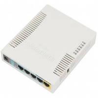 Беспроводной маршрутизатор MikroTik RB951Ui-2HND (N300, 600MHz/128Mb, 5х100Мбит, 1хUSB, 1000mW, PoE