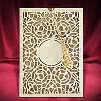 Пригласительные на свадьбу с высеченными узорами (арт. 2670)