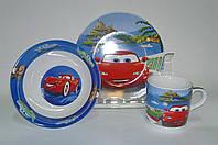 Детский набор посуды из керамики Тачки