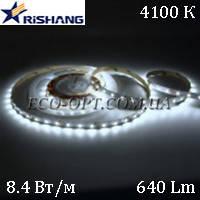 Светодиодная (LED) лента RISHANG SMD 2835 120 д/м 12V 8,4 Вт IP33 белая, фото 1