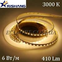Светодиодная (LED) лента RISHANG SMD 2835 60 д/м 12V 6 Вт IP33 теплый белый