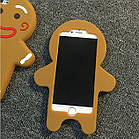 3D Cartoon Gingerbread Man Cookie Biscuit Soft Silicone для iPhone 6 Plus, фото 2