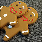 3D Cartoon Gingerbread Man Cookie Biscuit Soft Silicone для iPhone 6 Plus, фото 3