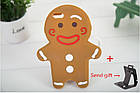 3D Cartoon Gingerbread Man Cookie Biscuit Soft Silicone для iPhone 6 Plus, фото 4