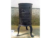 Чугунная печь KARLIK 4.5 kW на уголь и дрова.