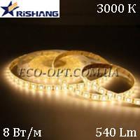 Светодиодная (LED) лента RISHANG SMD 3528 120 д/м 12V 8 Вт IP33 теплый белый, фото 1