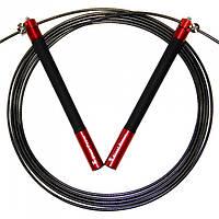 Скакалка скоростная BuyJumpRopes GIANTPOWER с регулируемой длиной (Красная)