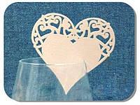 Декор для бокалов Сердце ЕМ 0391 Empire, 110х70 мм