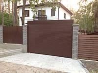 Ролетные ворота на въезд во двор, установка Киевская область, с. Вита Почтовая