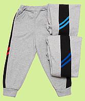 Спортивные штаны для мальчика с лампасами и начесом, фото 1