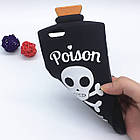 3D Terrorist Scull Cover Chill Pills Poison Soft Silicon Case Pink для iPhone 6/6S Plus, фото 4