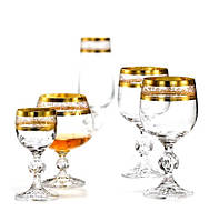 Подарочный набор бокалов Bohemia Claudia Gold (40149/43081/180-18)18 пр.