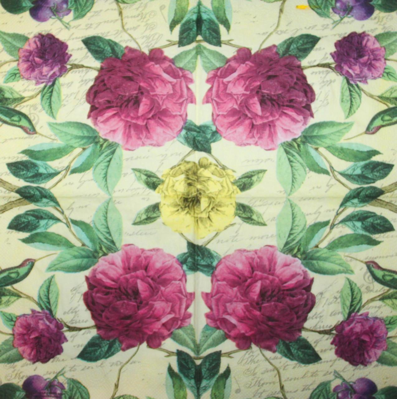 Декупажная салфетка Цветы 6084