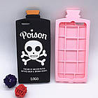 3D Terrorist Scull Cover Chill Pills Poison Soft Silicon Case Pink для iPhone 6/6S Plus, фото 3