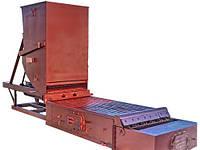 Топка с шурующей планкой механическая для сжигания каменных и бурых углей