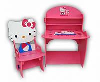 Набор детской мебели JY 8888H (детский столик и стульчики), «Hеllo Kitty», дерево.