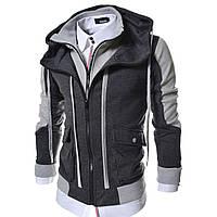 Толстовка мужская LCJ10 TheLees Mens Casual Slim Fit Hoodies Cotton Long Sleeve Solid Jacket