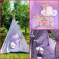 """Детский игровой домик, вигвам, палатка, шатер, шалаш """"Пионы"""""""