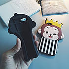 Cute 3D Crown Monkey Love Heart Eyes Soft Silicon Case Back Cover для iPhone 6/6S, фото 3